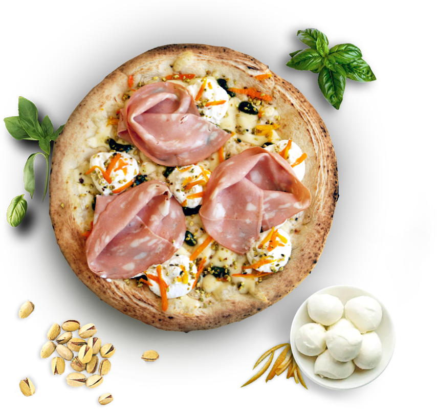 pizza mortadella